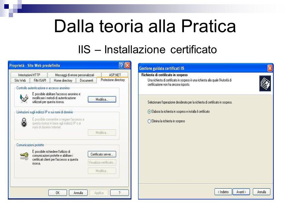 Dalla teoria alla Pratica IIS – Installazione certificato