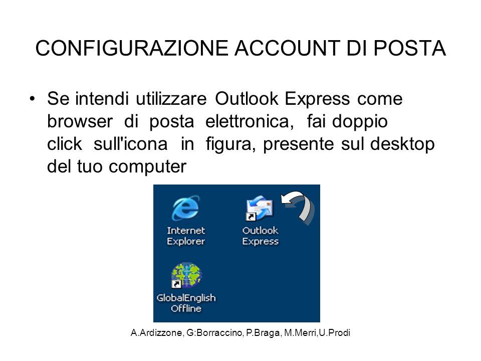A.Ardizzone, G:Borraccino, P.Braga, M.Merri,U.Prodi CONFIGURAZIONE ACCOUNT DI POSTA Se intendi utilizzare Outlook Express come browser di posta elettr
