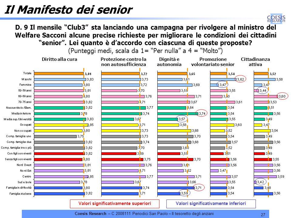27 Coesis Research – C 2008111 Periodici San Paolo – Il tesoretto degli anziani D.