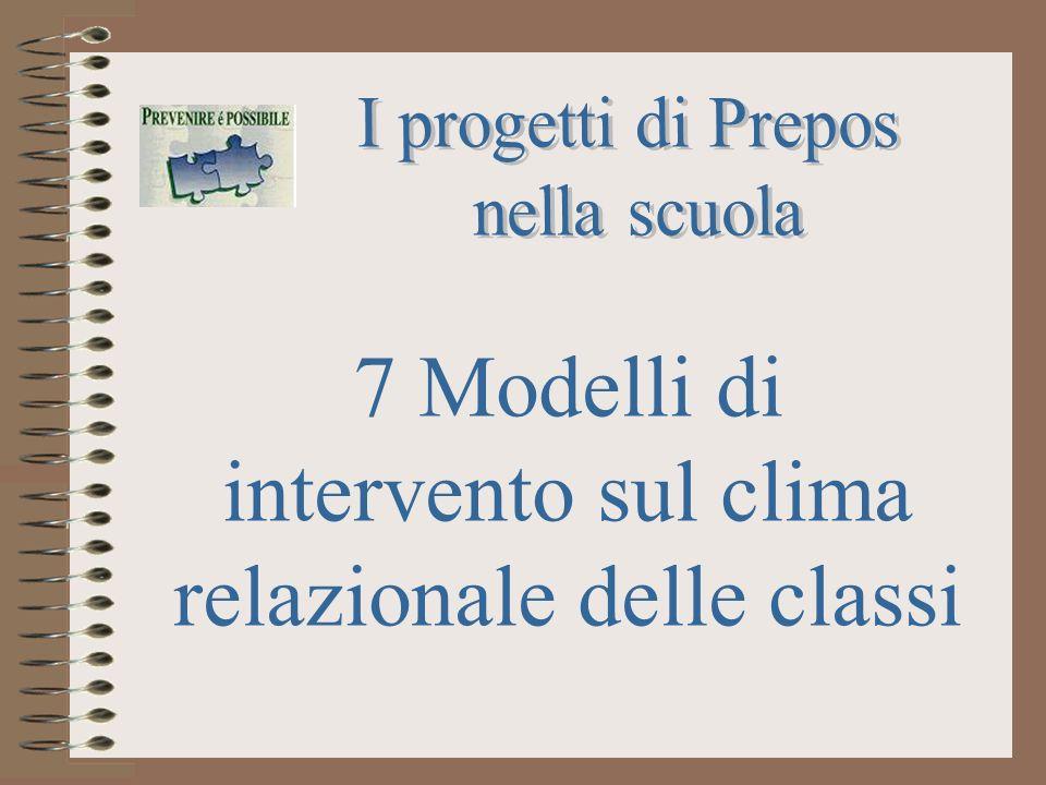 7 Modelli di intervento sul clima relazionale delle classi