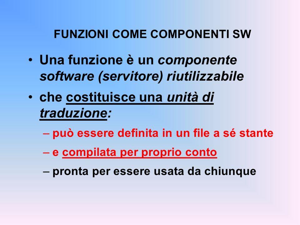 PROGETTI SU PIÙ FILE IN TURBO C Dalla finestra Add to Project List si selezionano tutti i file sorgente (.c) da inserire nel progetto.