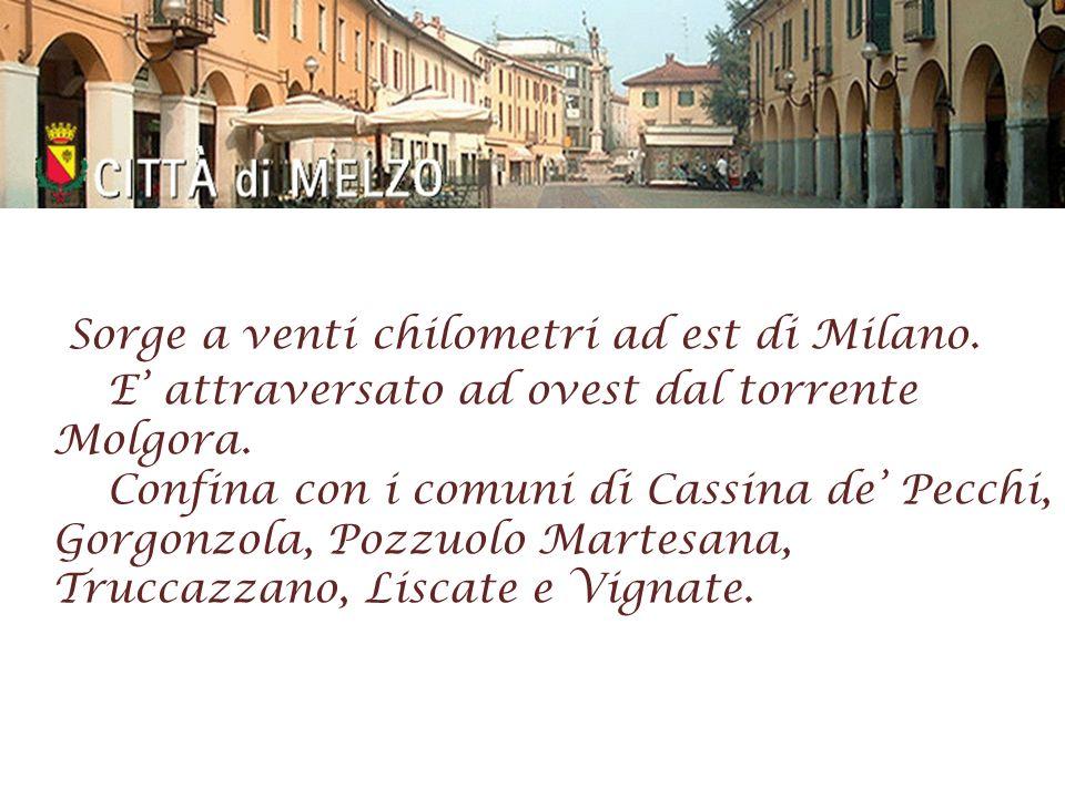 Sorge a venti chilometri ad est di Milano. E attraversato ad ovest dal torrente Molgora. Confina con i comuni di Cassina de Pecchi, Gorgonzola, Pozzuo