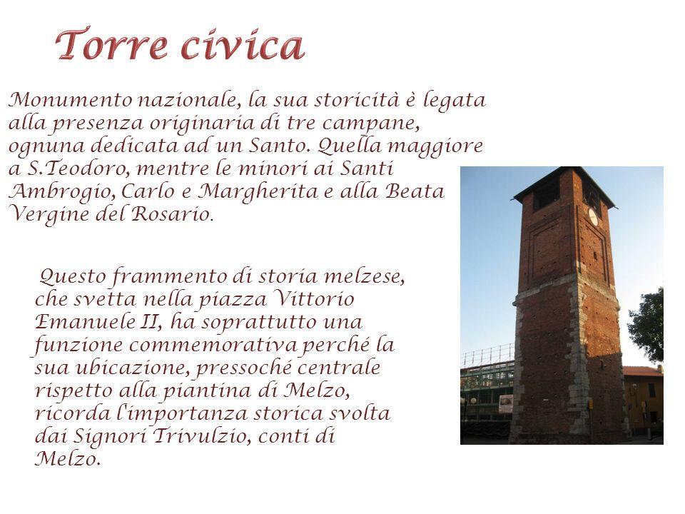 Monumento nazionale, la sua storicità è legata alla presenza originaria di tre campane, ognuna dedicata ad un Santo. Quella maggiore a S.Teodoro, ment
