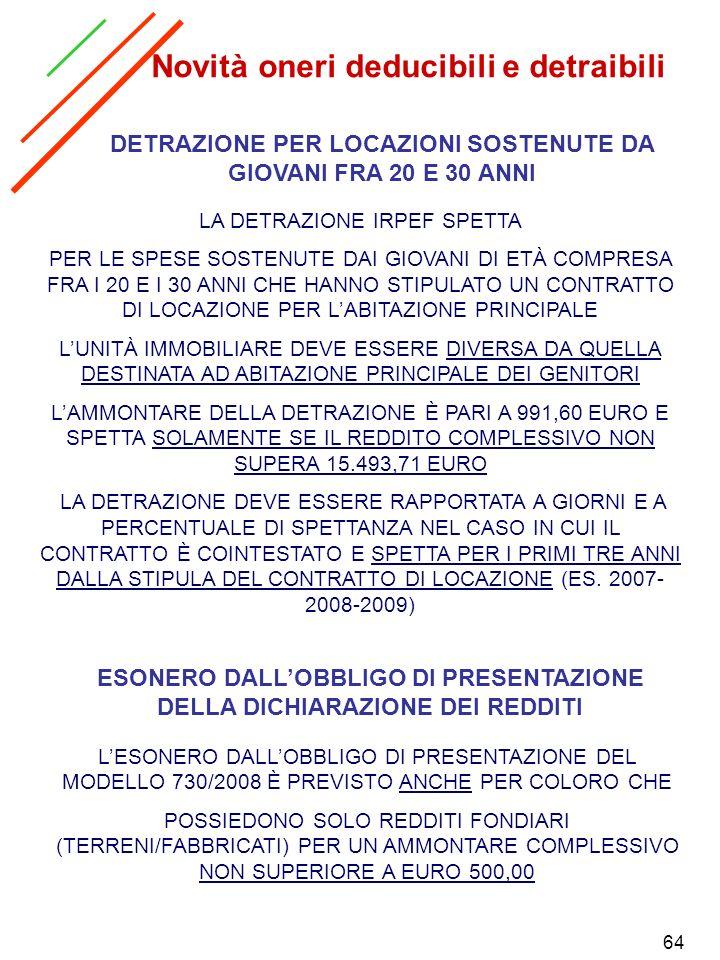 64 ESONERO DALLOBBLIGO DI PRESENTAZIONE DELLA DICHIARAZIONE DEI REDDITI LESONERO DALLOBBLIGO DI PRESENTAZIONE DEL MODELLO 730/2008 È PREVISTO ANCHE PE