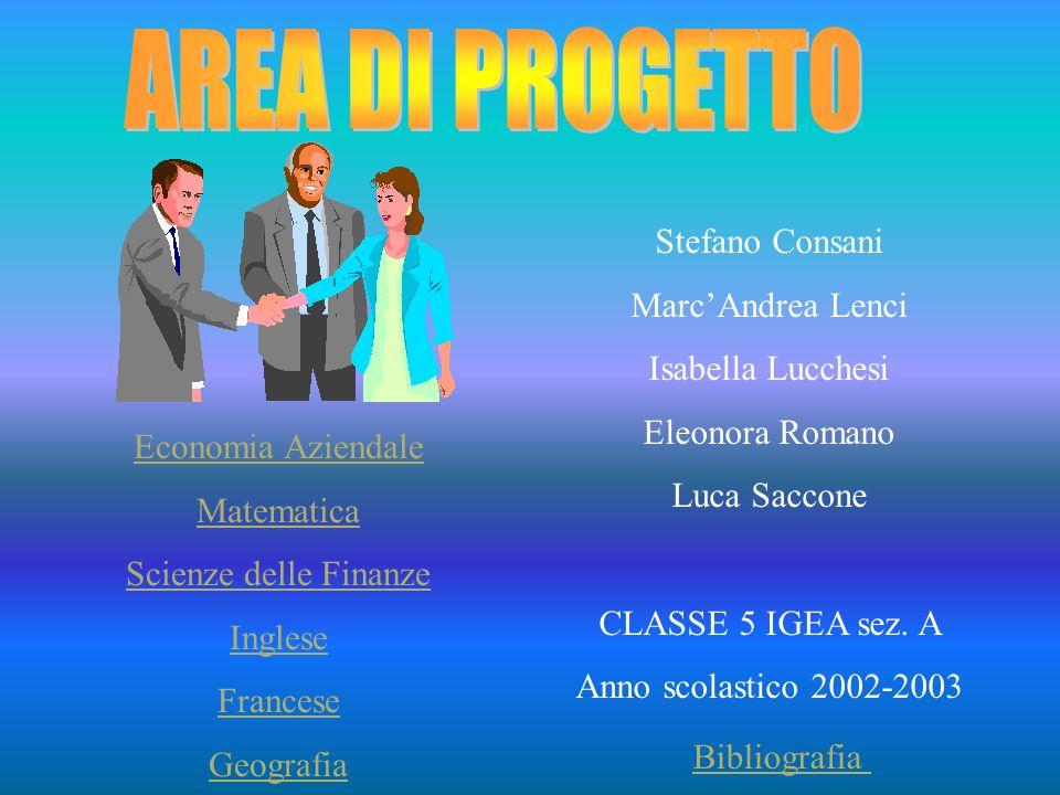 Stefano Consani MarcAndrea Lenci Isabella Lucchesi Eleonora Romano Luca Saccone CLASSE 5 IGEA sez.