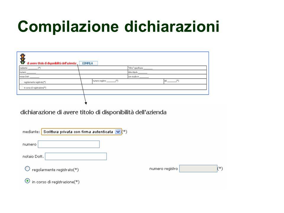 Compilazione dichiarazioni