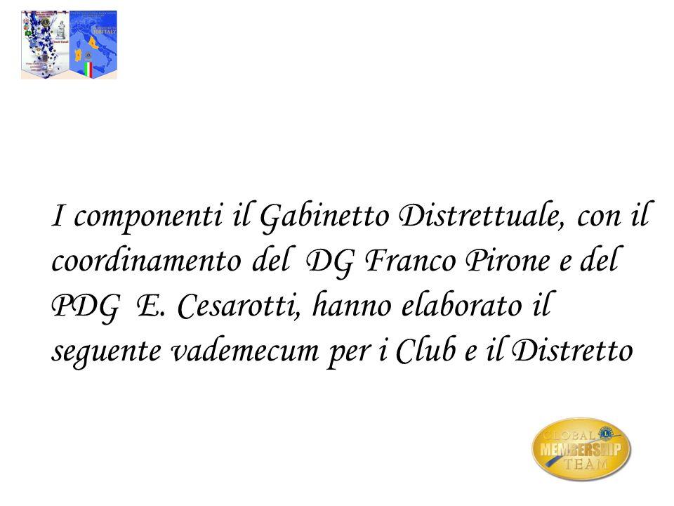 I componenti il Gabinetto Distrettuale, con il coordinamento del DG Franco Pirone e del PDG E. Cesarotti, hanno elaborato il seguente vademecum per i