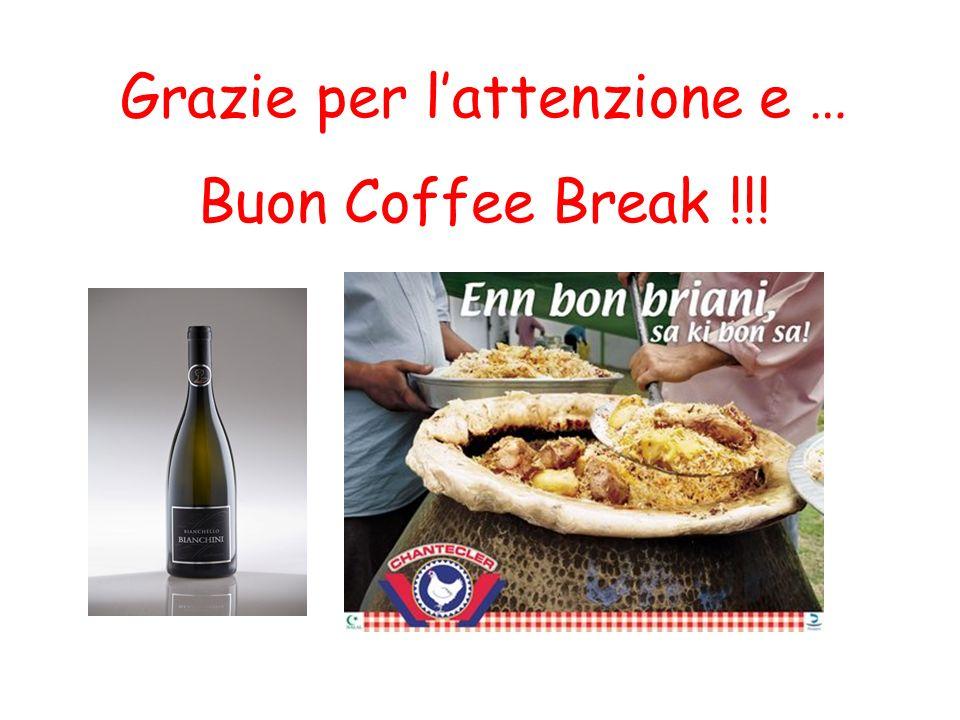 Grazie per lattenzione e … Buon Coffee Break !!!