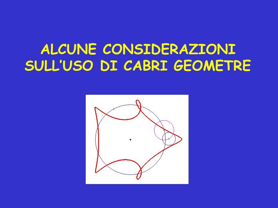 ALCUNE CONSIDERAZIONI SULLUSO DI CABRI GEOMETRE