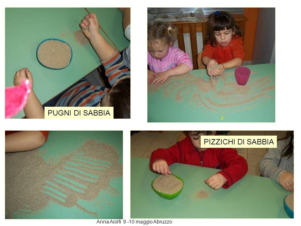 A ogni bambino diamo una ciotola piena di sabbia con la consegna di spostare la sabbia sul tavolo come si vuole contando la quantità con i pizzichi, i