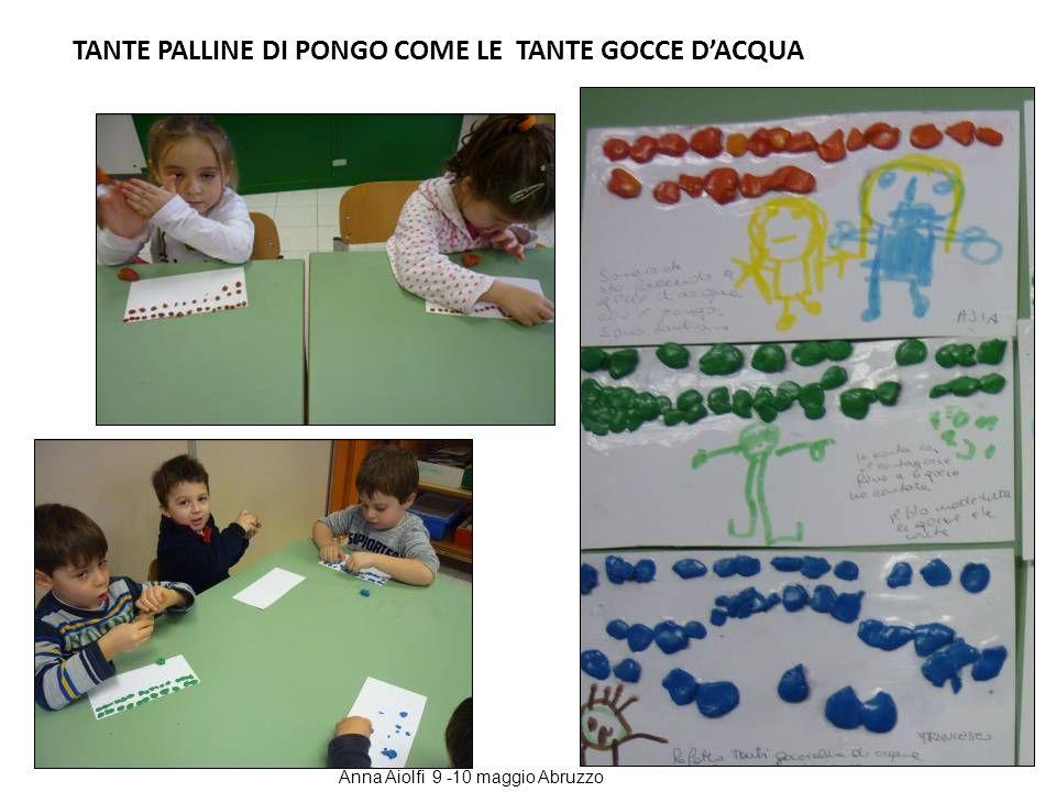 TANTE PALLINE DI PONGO COME LE TANTE GOCCE DACQUA Anna Aiolfi 9 -10 maggio Abruzzo