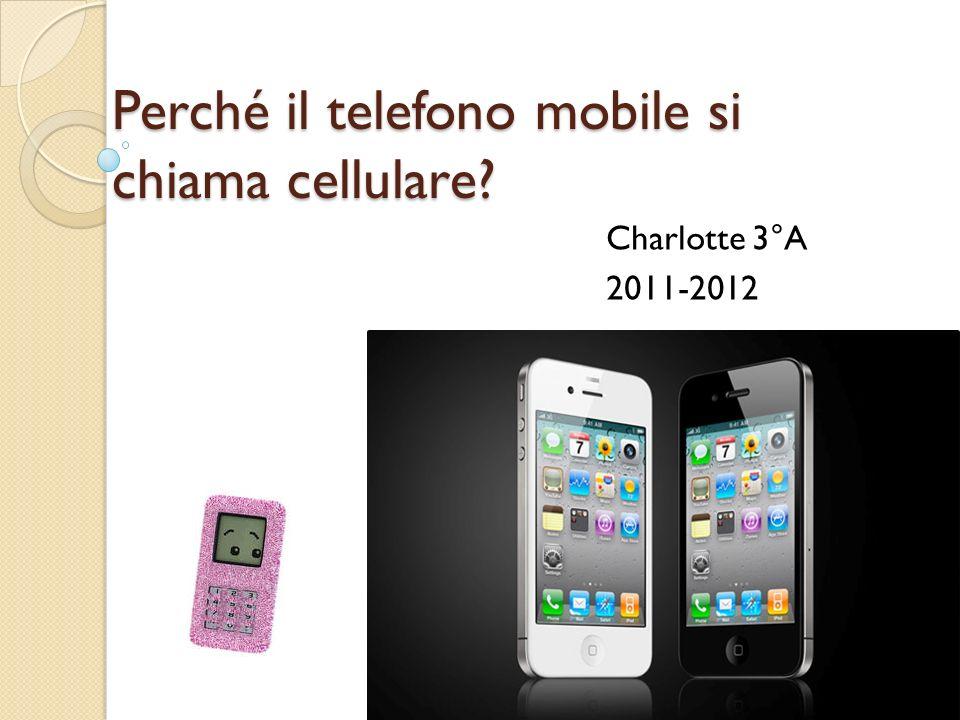 Perché il telefono mobile si chiama cellulare? Charlotte 3°A 2011-2012