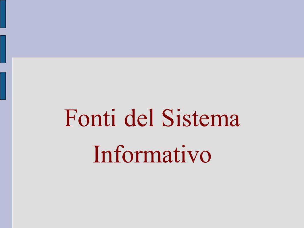 Fonti del Sistema Informativo