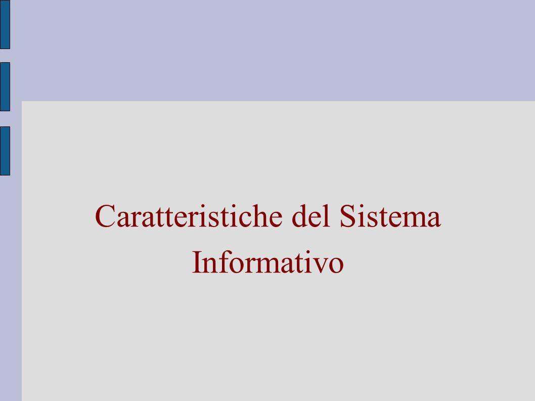 Caratteristiche del Sistema Informativo