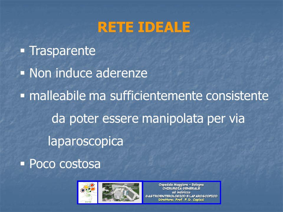 Ospedale Maggiore – Bologna CHIRURGIA GENERALE ad indirizzo GASTROENTEROLOGICO E LAPAROSCOPICO Direttore: Prof. F.D. Capizzi RETE IDEALE Trasparente N