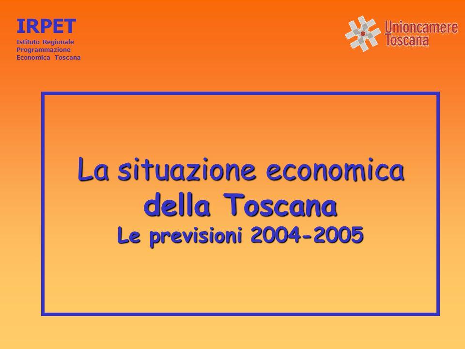 La situazione economica della Toscana Le previsioni 2004-2005 IRPET Istituto Regionale Programmazione Economica Toscana
