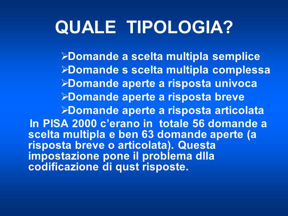 QUALE TIPOLOGIA.