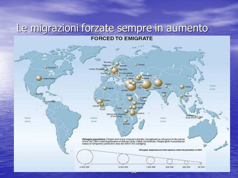 Samia Kouider. 25 maggio 2007 Le migrazioni forzate sempre in aumento