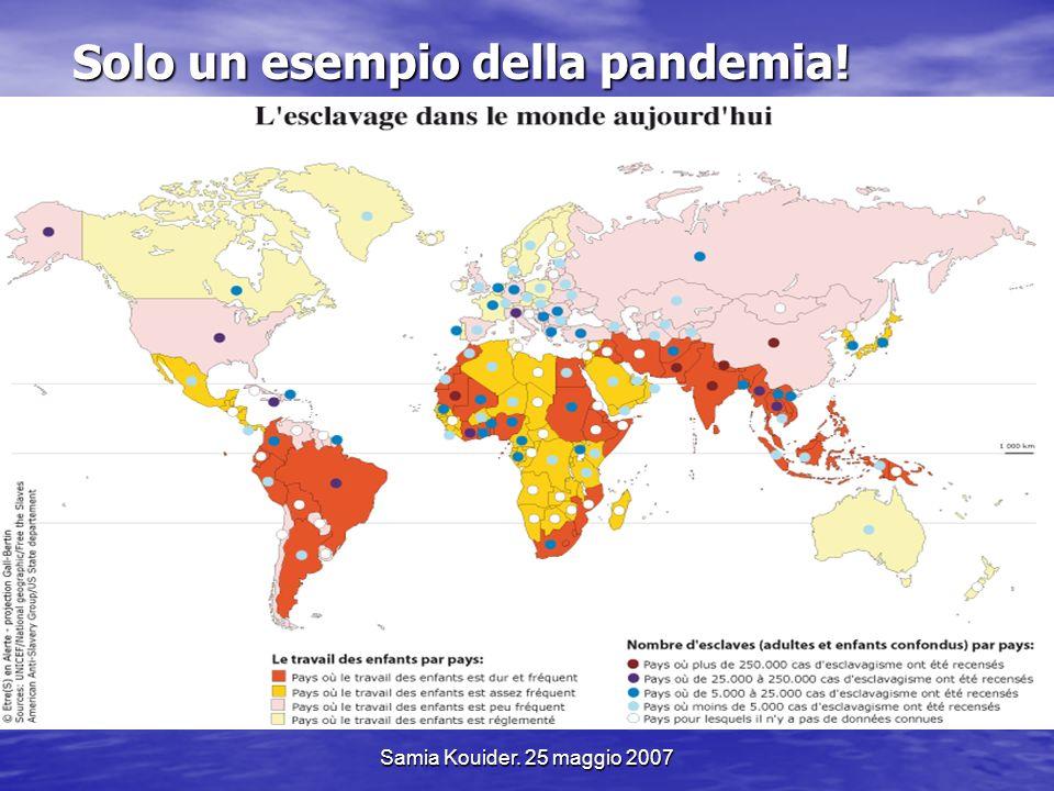 Samia Kouider. 25 maggio 2007 Solo un esempio della pandemia!