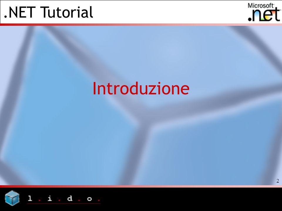 .NET Tutorial 2 Introduzione
