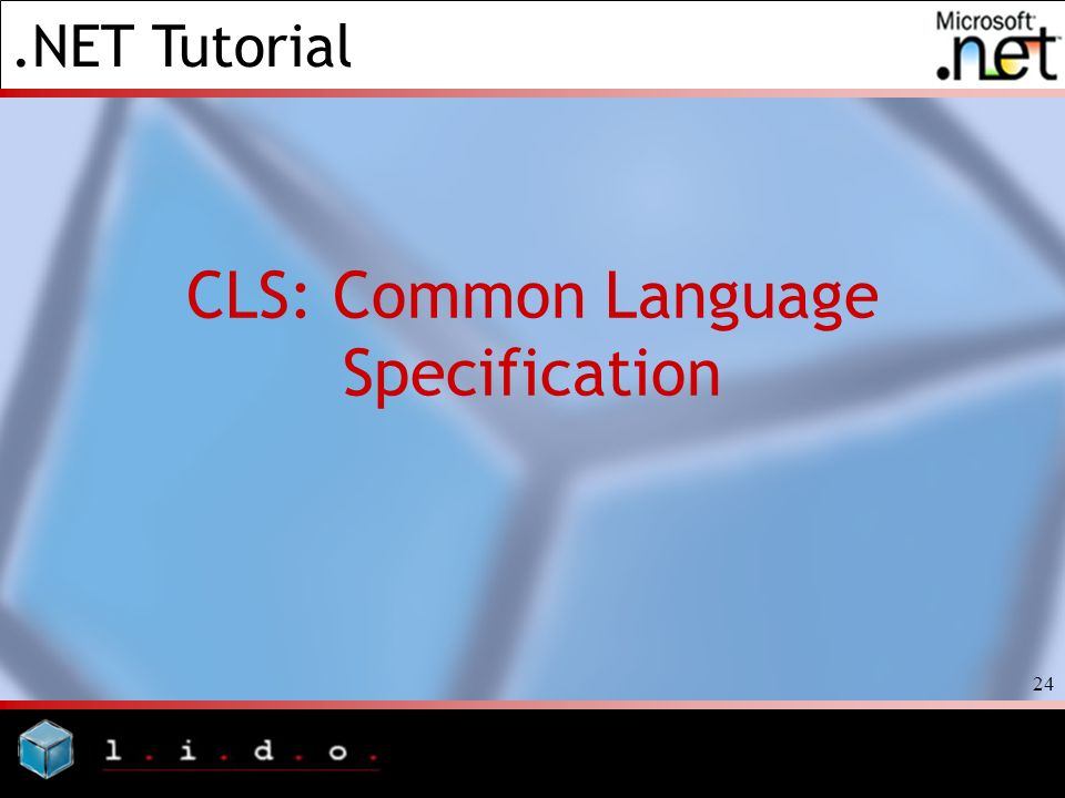 .NET Tutorial 24 CLS: Common Language Specification