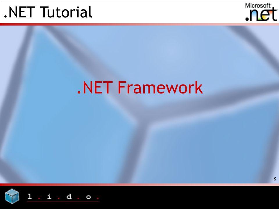 .NET Tutorial 5.NET Framework