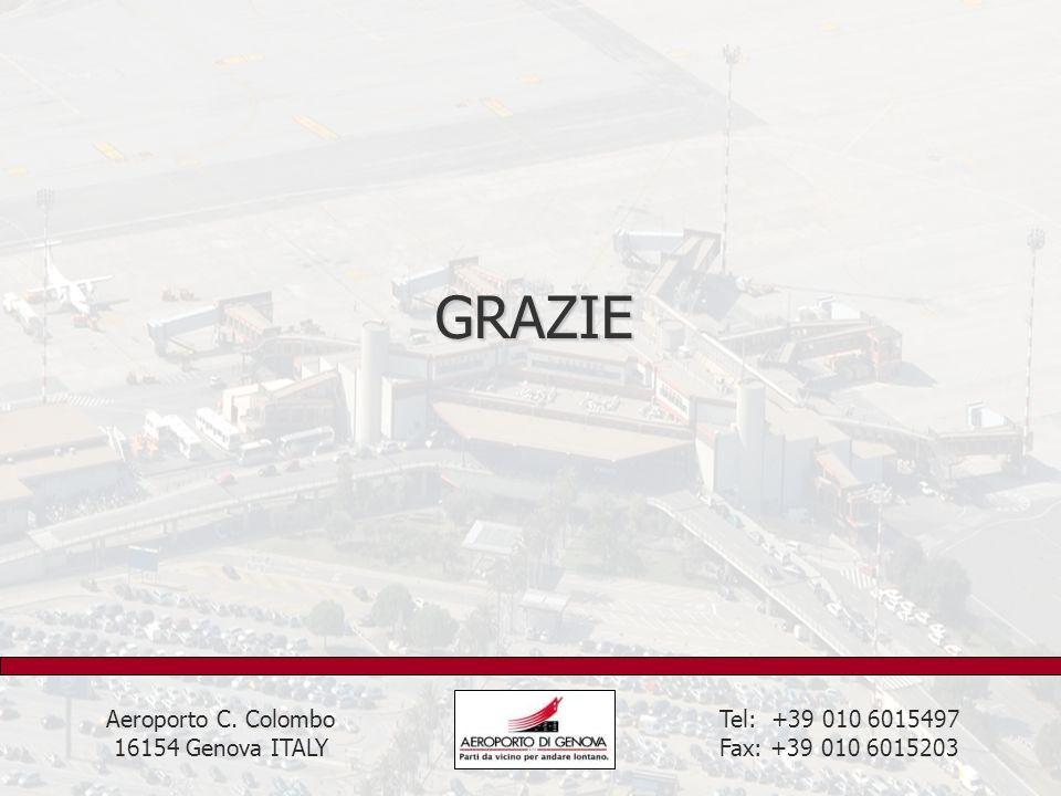 GRAZIE Tel: +39 010 6015497 Fax: +39 010 6015203 Aeroporto C. Colombo 16154 Genova ITALY