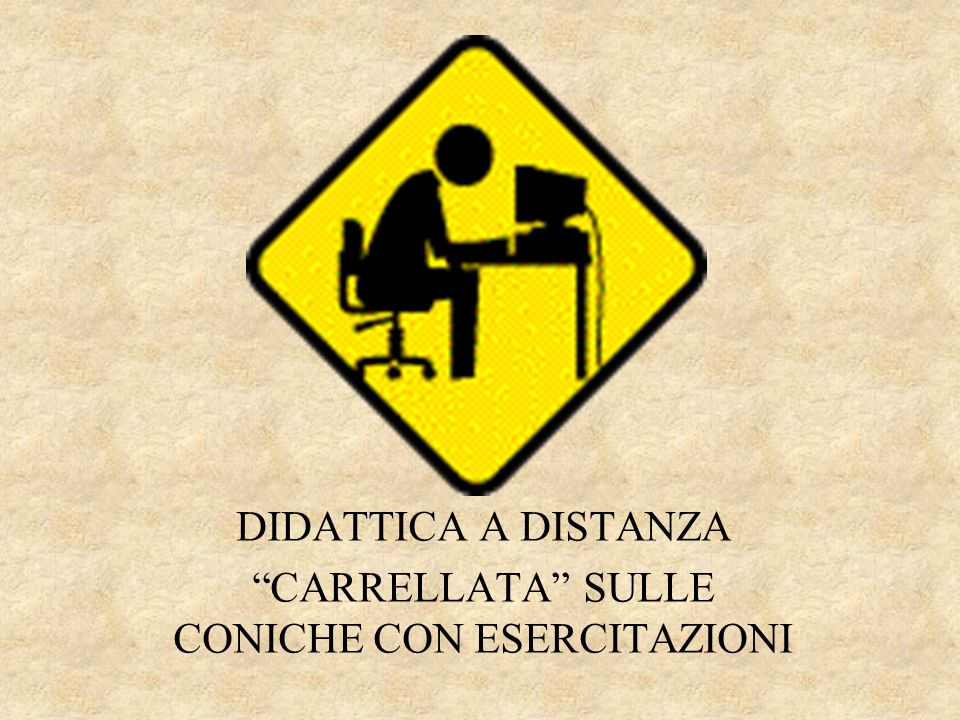 a>0a<0 x yy x x y y x Coniche Classificazione