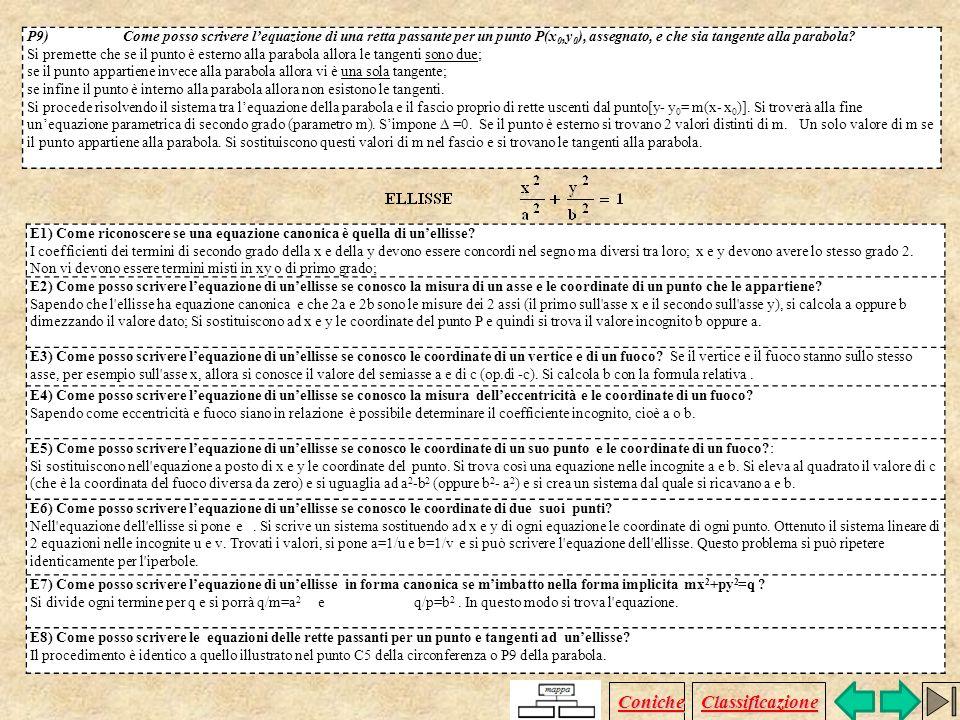 C8)Come scrivere lequazione di una circonferenza sapendo che essa passa per tre punti A(x A, y A ), B(x B, y B ) C(x C,y C ) di coordinate note? I pro