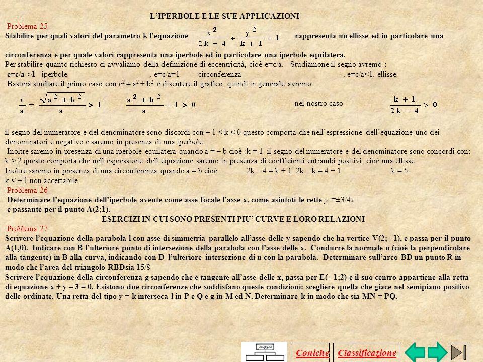 LELLISSE E LE SUE APPLICAZIONI Problema 15 Determinare l'equazione dell'ellisse con asse maggiore sull'asse x, avente asse maggiore di lunghezza 2a =