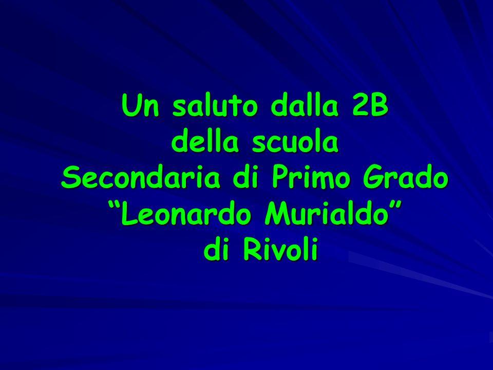 Un saluto dalla 2B della scuola Secondaria di Primo Grado Leonardo Murialdo di Rivoli
