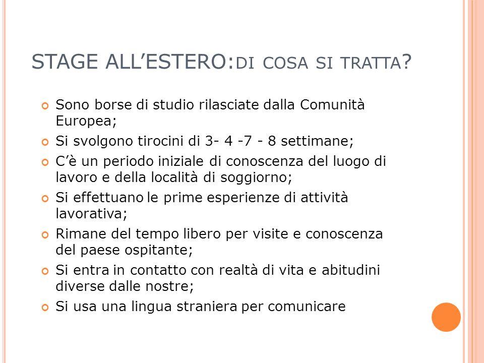 STAGE ALLESTERO: DI COSA SI TRATTA .