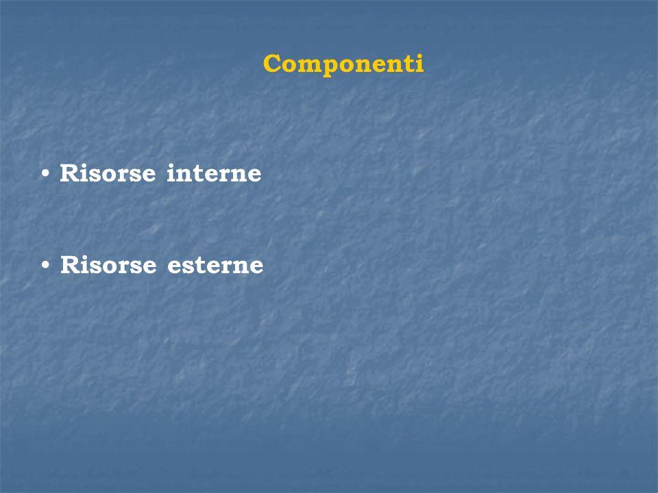 Componenti Risorse interne Risorse esterne