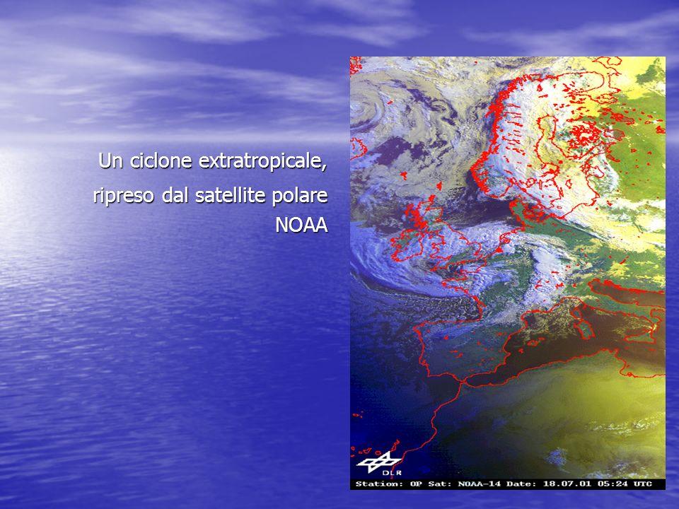 Un ciclone extratropicale, ripreso dal satellite polare NOAA