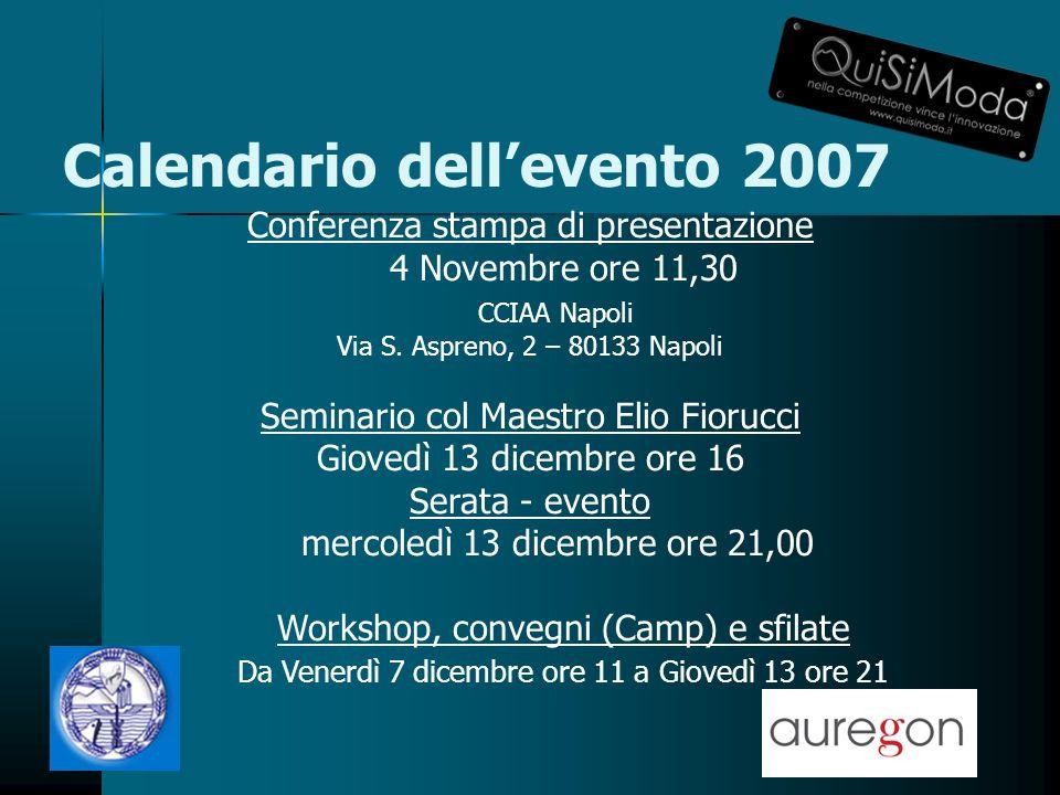 Conferenza stampa di presentazione 4 Novembre ore 11,30 CCIAA Napoli Via S.