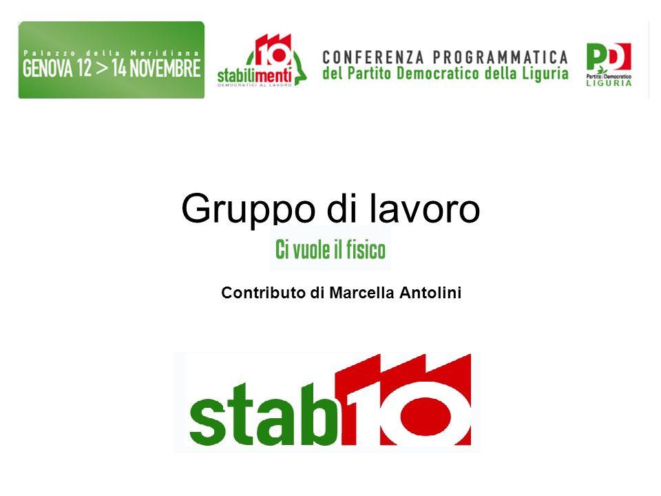 Gruppo di lavoro Contributo di Marcella Antolini