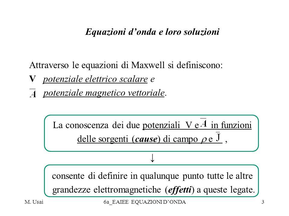 M.Usai6a_EAIEE EQUAZIONI DONDA4 In generale risultano applicabili le equazioni donda non omogenee.
