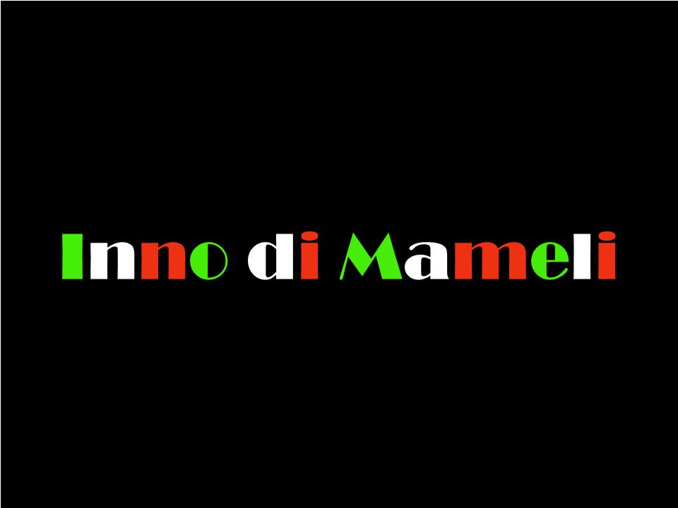 Fratelli d Italia L Italia s è desta Dell elmo di Scipio S è cinta la testa Dov è la vittoria.