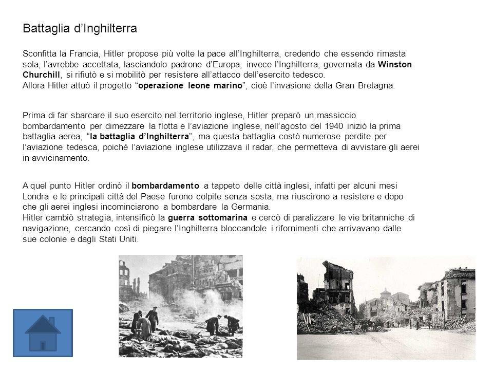 LItalia entra in guerra a fianco della Germania Allo scoppio del conflitto, Mussolini, sapendo quanto era impreparato lesercito italiano, aveva dichiarato la non belligeranza dellItalia, quando però la Francia stava crollando e LInghilterra sembrava prossima alla resa, il Duce, convinto che la vittoria della Germania era ormai vicina, si pentì della scelta fatta e il 10 giugno del 1940 dichiarò guerra alla Francia e allInghilterra, questa dichiarazione rivelò lo stato dimpreparazione delle truppe italiane.