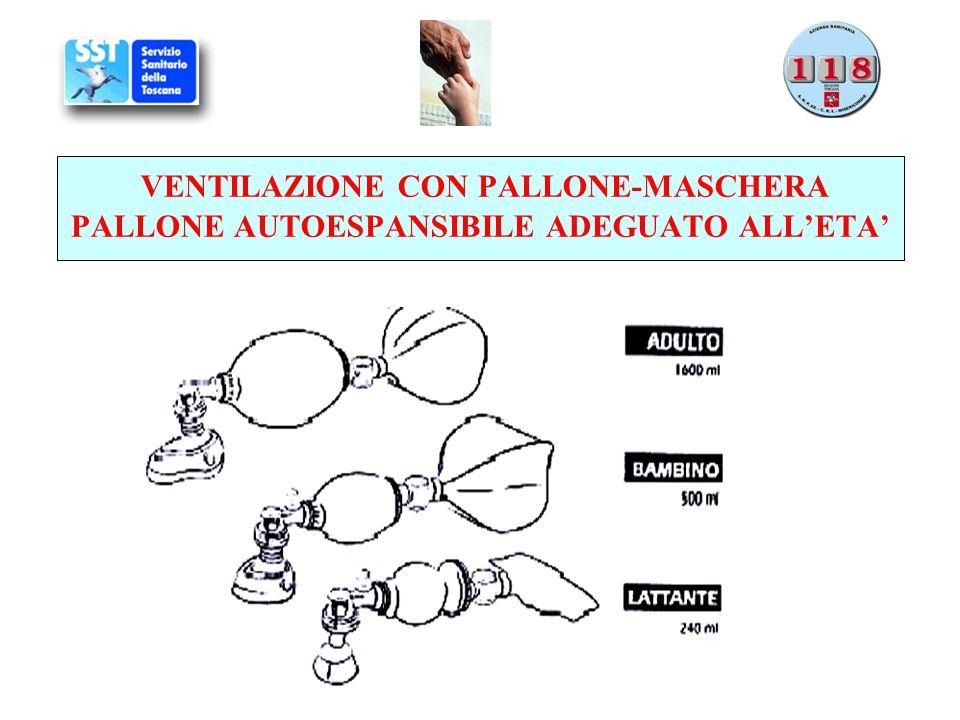 VENTILAZIONE CON PALLONE-MASCHERA PALLONE AUTOESPANSIBILE ADEGUATO ALLETA