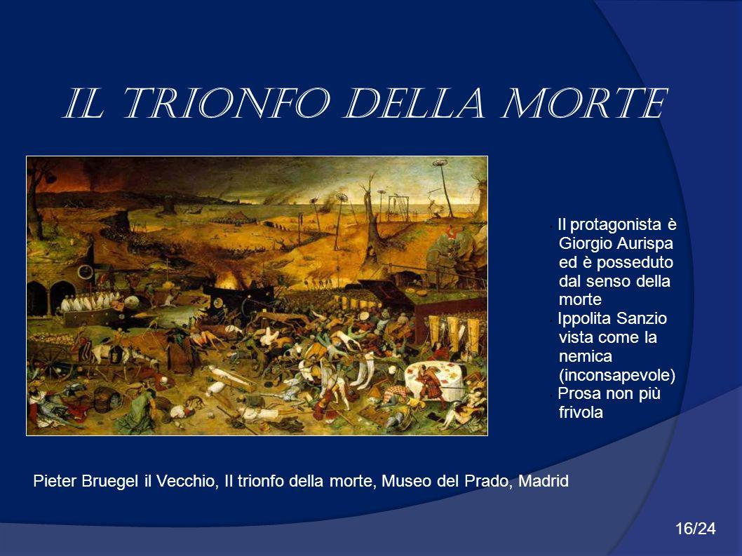 Il trionfo della morte Il protagonista è Giorgio Aurispa ed è posseduto dal senso della morte Ippolita Sanzio vista come la nemica (inconsapevole) Pro