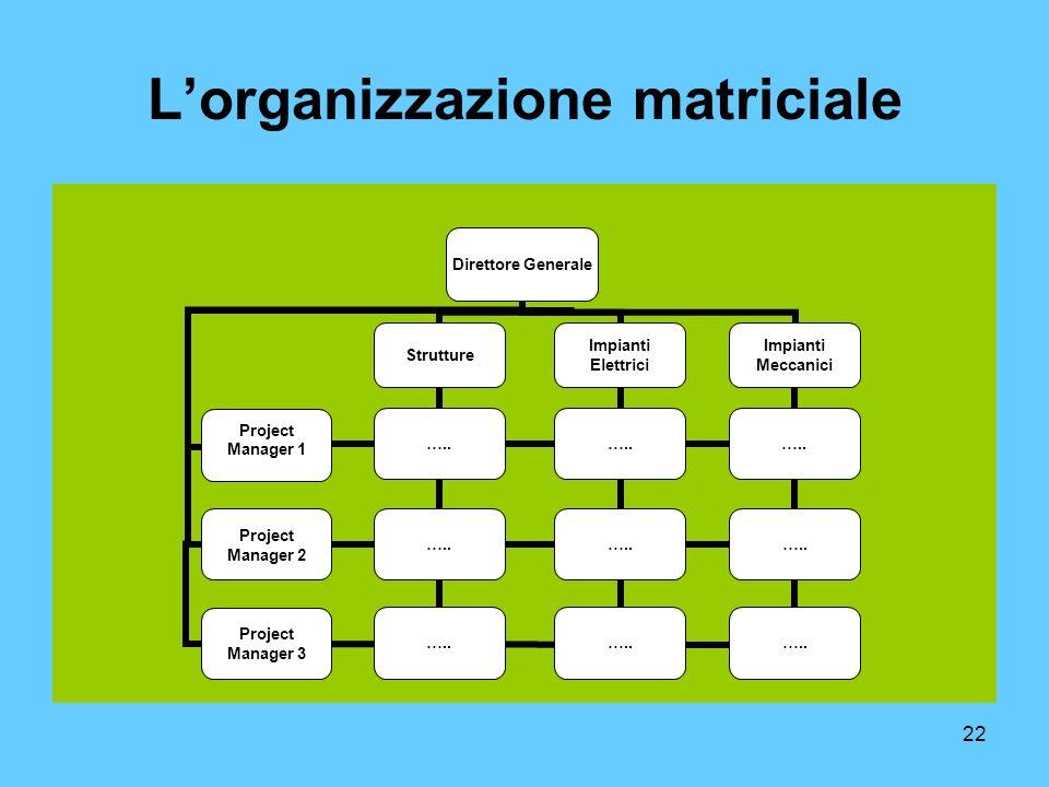 22 Lorganizzazione matriciale