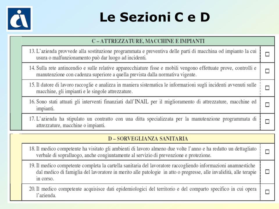 Pagina 31 Le Sezioni C e D