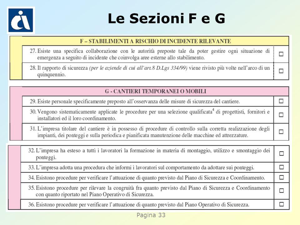 Pagina 33 Le Sezioni F e G