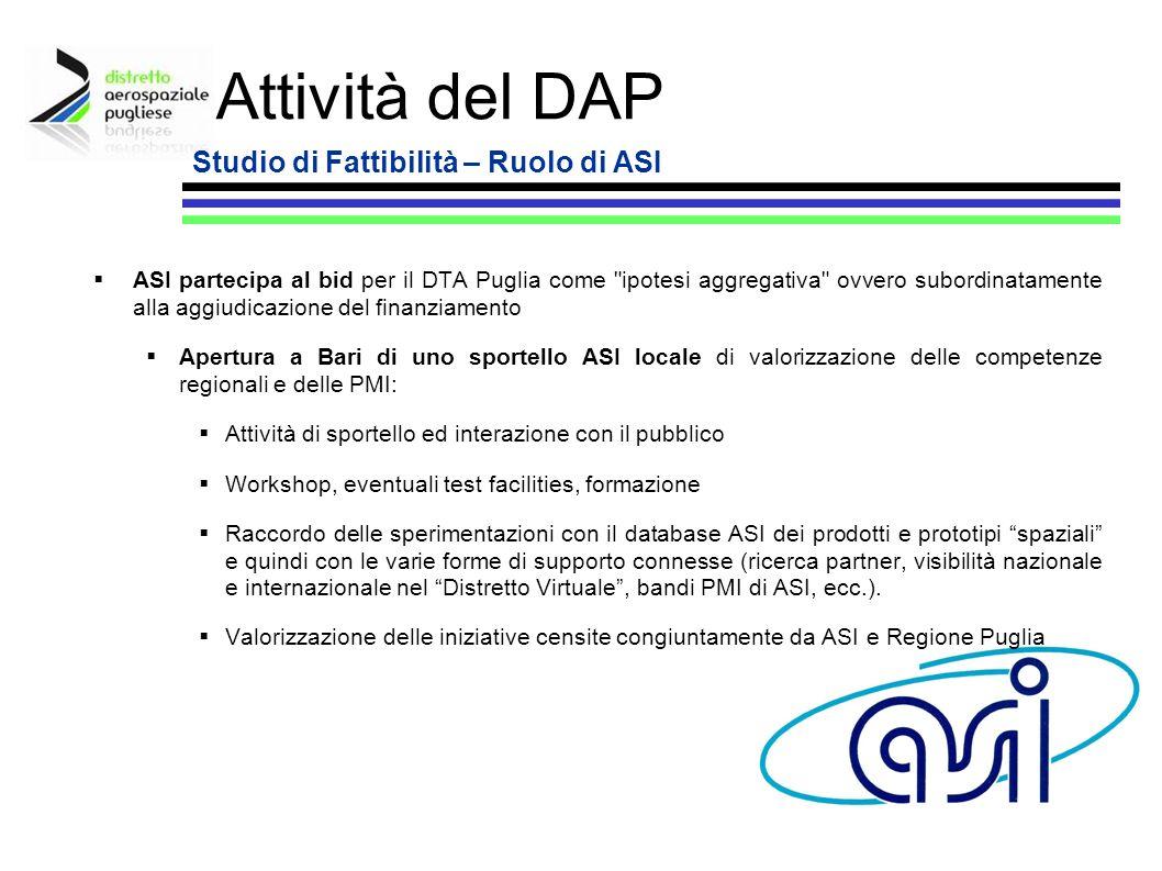 13 ASI partecipa al bid per il DTA Puglia come