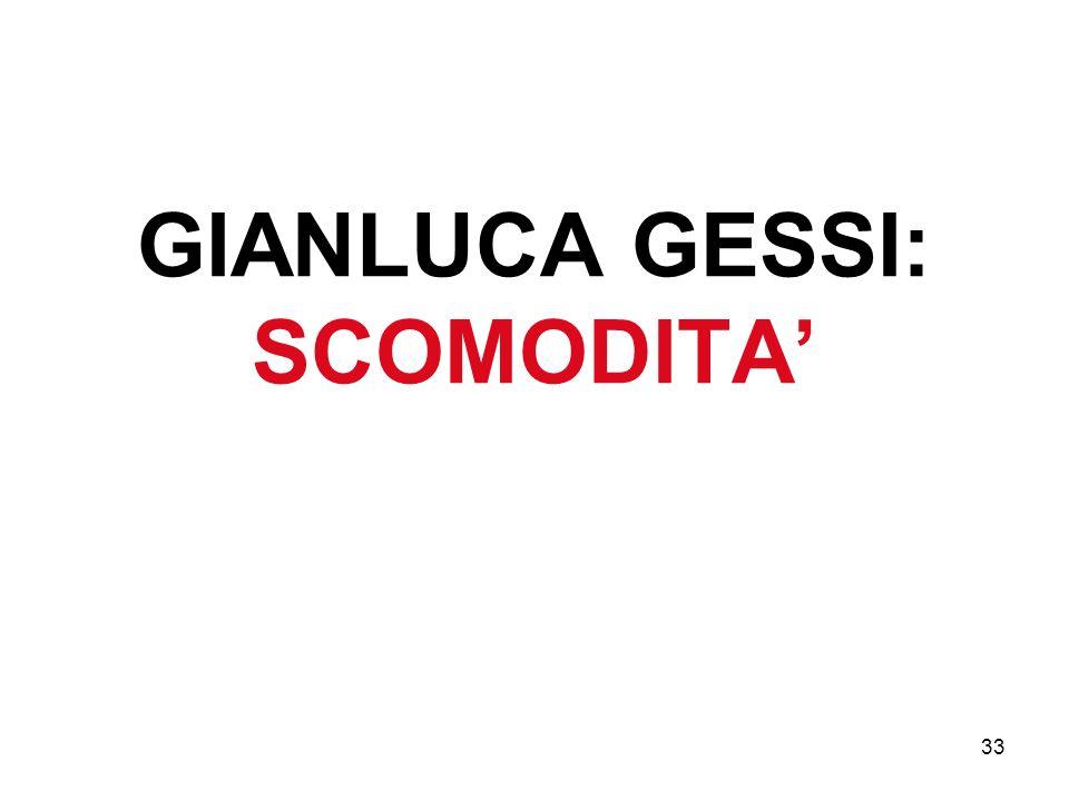 33 GIANLUCA GESSI: SCOMODITA