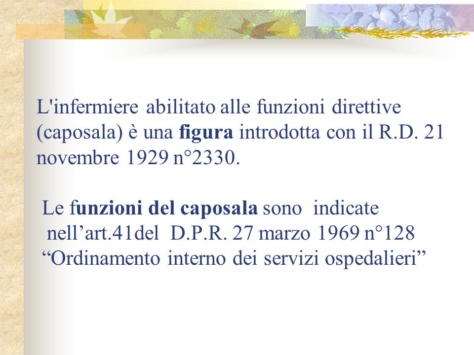 LA CAPOSALA art.41 D.P.R.