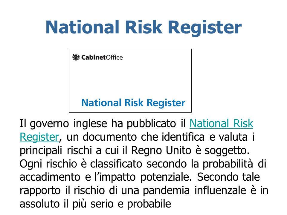 Il governo inglese ha pubblicato il National Risk Register, un documento che identifica e valuta i principali rischi a cui il Regno Unito è soggetto.