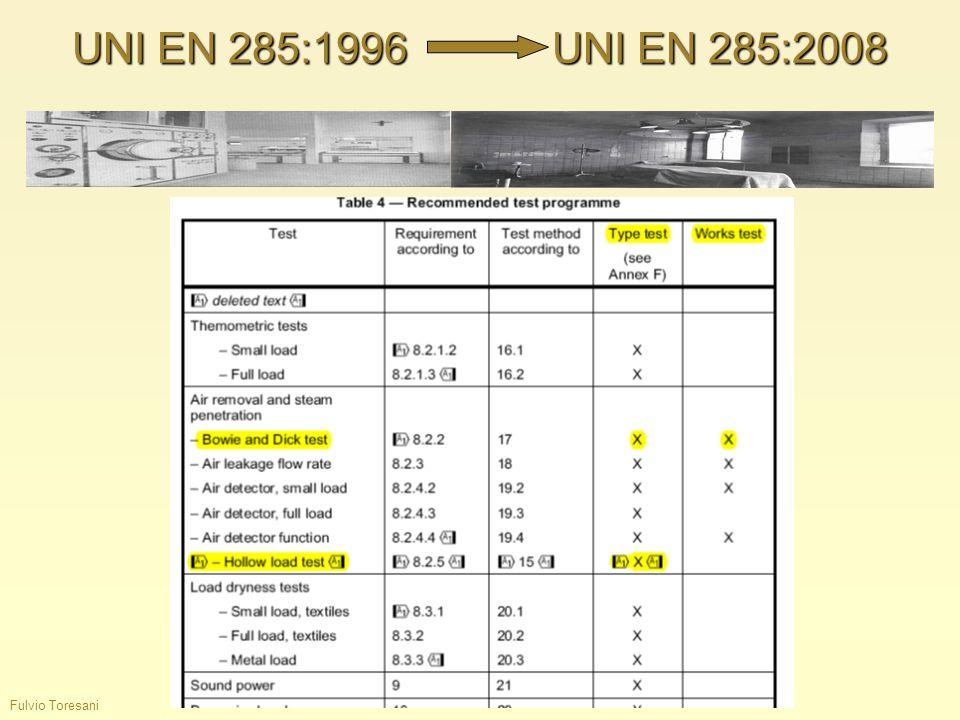 Fulvio Toresani UNI EN 285:1996UNI EN 285:2008