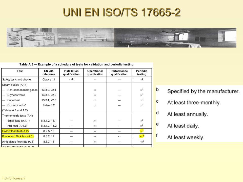 Fulvio Toresani UNI EN ISO/TS 17665-2